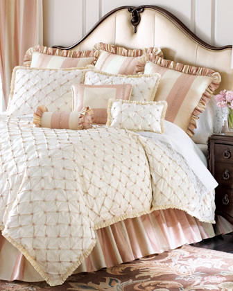Matouk Petals & Posies Bed Linens Two Standard Cases, Monogrammed traditional-sheets