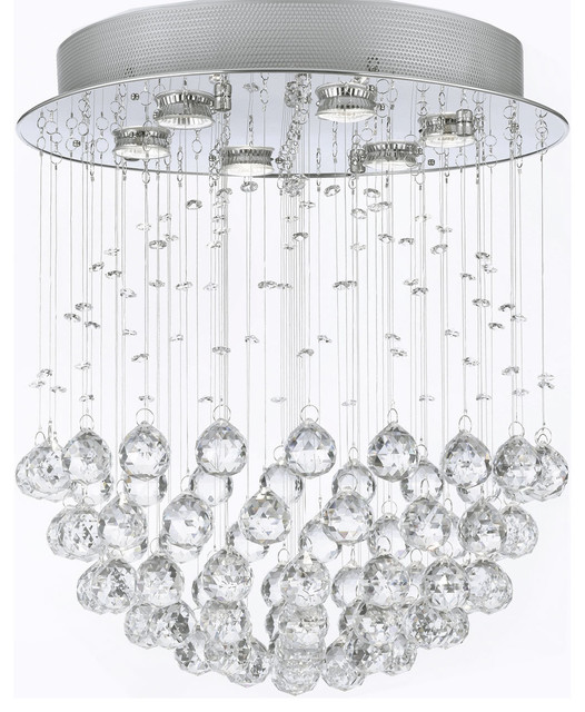 """Modern chandelier """"Rain Drop"""" Lighting with Crystalalls traditional-chandeliers"""