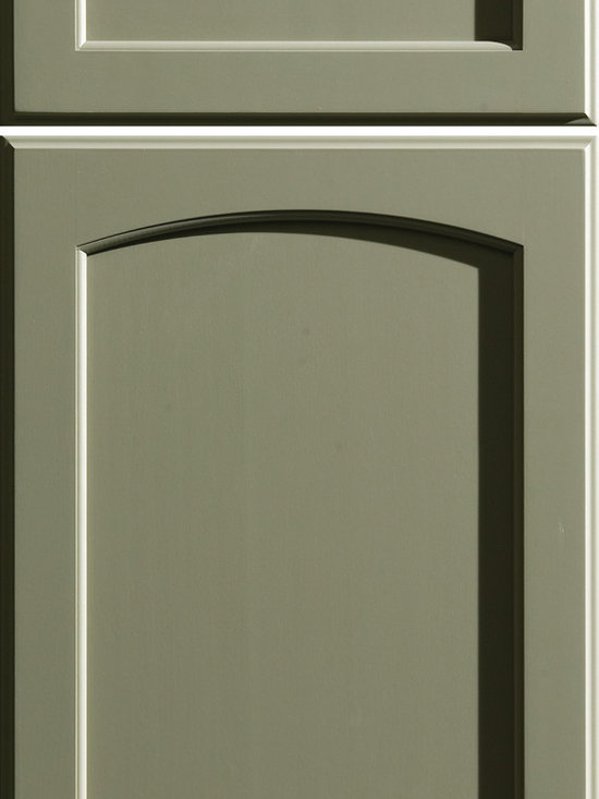 """Dura Supreme Cabinetry - Dura Supreme Cabinetry Hampton Panel Cabinet Door Style - Dura Supreme Cabinetry """"Hampton Panel"""" cabinet door style shown in Paintable with  in Dura Supreme's """"Tea Green"""" green paint finish."""