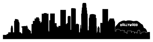 Skyline silhouette wall decal modern wall decals by dana decals