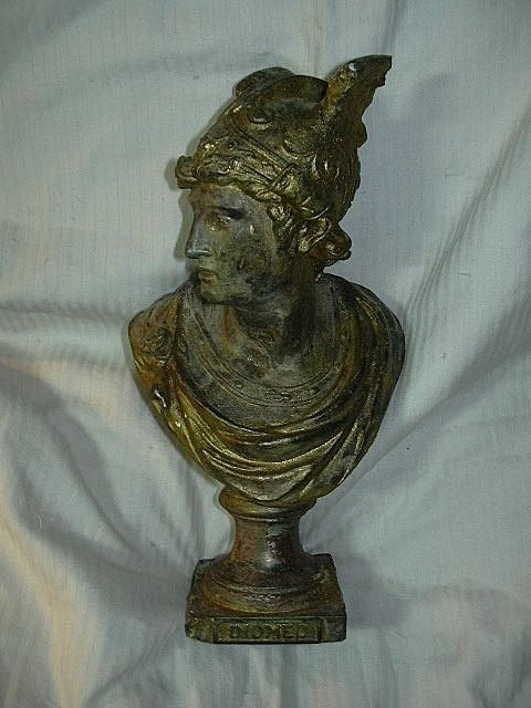 Old Bust Statue, Diomedes from Dorland Antiques traditional-decorative-objects-and-figurines
