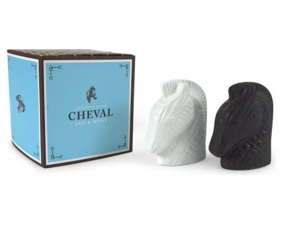 Cheval Salt & Pepper Shakers -