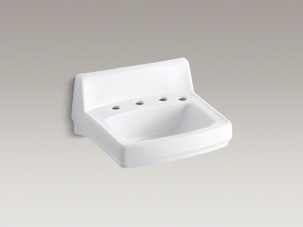 """KOHLER Greenwich(TM) 20-3/4"""" x 18-1/4"""" wall-mount/concealed arm carrier bathroom contemporary-bath-and-spa-accessories"""