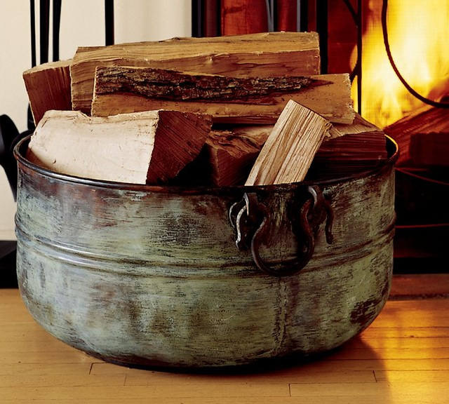 Copper Bucket traditional fireplace accessories