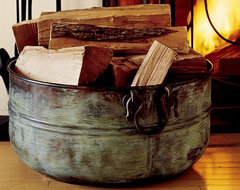 Copper Bucket traditional-fireplace-accessories