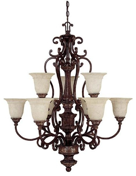 Capital Lighting 3639CB-283 9 Light Chandelier Chesterfield Collection chandeliers