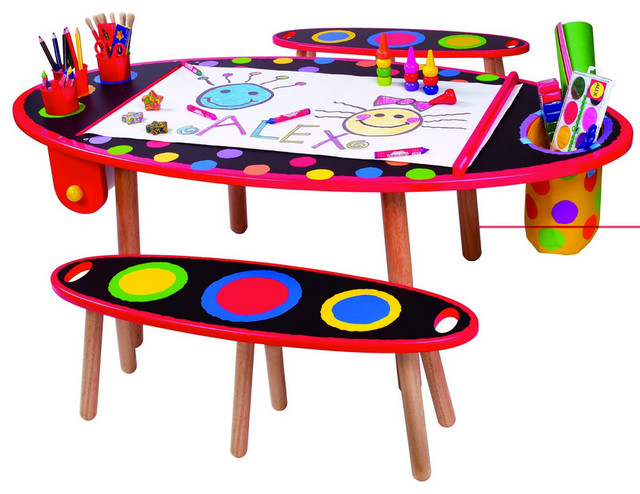 Alex super art table contemporary kids tables and chairs by