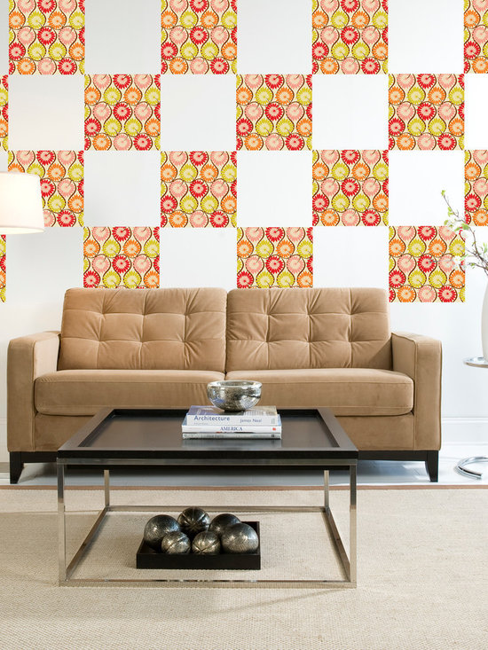 """Carnivale Blox Set of Wall Decals - Festive yet chic. Carnivale will make you smile. This pack comes with sixteen 13"""" Carnivale blox. All WallPops are repositionable and always removable."""