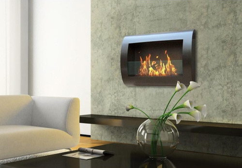Chelsea Wall Mount Bio Ethanol Fireplace Modern Outdoor Products By Wayfair