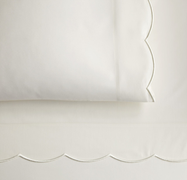 Overture Fitted Sheet, Ivory, Twin traditional-fitted-sheets