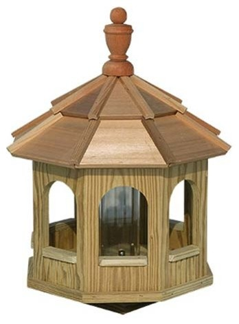 Greyfield Gazebo Birdfeeder contemporary-bird-feeders