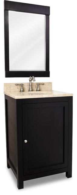 Distressed Shaker Vanity Set Black Single Drawer Traditional Bathroom Vanities And Sink