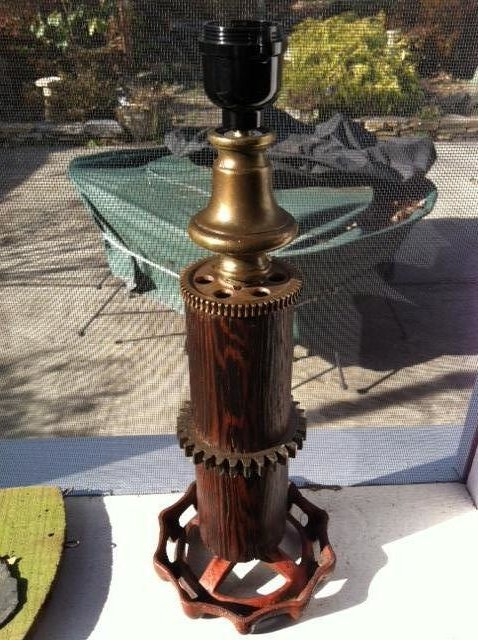 Industrial Lamps Created From Salvaged Items eclectic-table-lamps