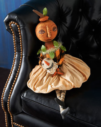 Simply Miss Pumpkin Halloween Doll  holiday decorations
