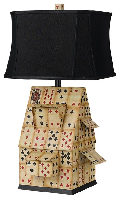 Transitional Horizon House of Cards Table Lamp eclectic-table-lamps