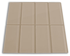"Champagne 3"" x 6"" Glass Subway Tile modern-tile"
