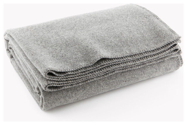 Pure Amp Simple Wool Blanket Light Heather Gray Twin