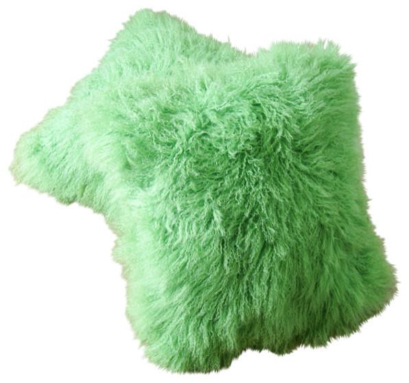 Tibetan / Mongolian Lamb Fur Pillows (Set of 2) contemporary-decorative-pillows