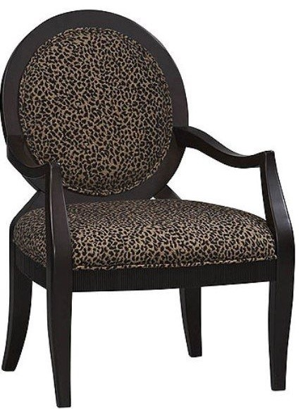 Leopard Print Accent Chair eclectic-living-room-chairs