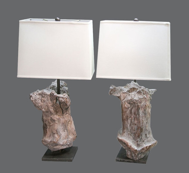 eclectic table lamps by Voila!