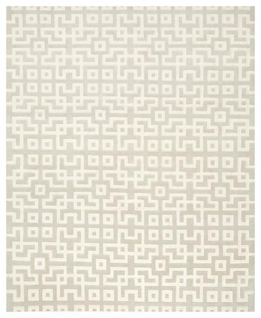 Contemporary Designs - Geometric Gray Rug contemporary-rugs