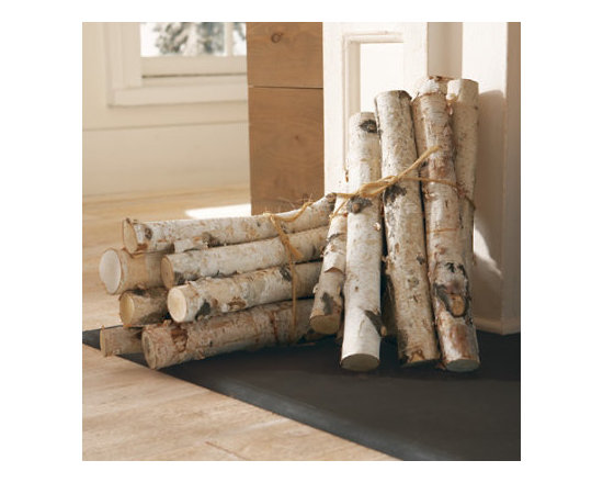 """Grandin Road - Birch Log Bundle - A classic bundle of natural birch logs. Six logs included in each bundle. Each log is approx. 16""""L, though sizes may vary. Intended for display indoors. With a display of the trend-setting Birch Log Bundle, you can gather around a warm and wonderful hearth, even when crackling flames just won't do. Decorate like a professional; stack and arrange these beautiful natural birch logs wherever you like. Assemble them vertically, horizontally or in a pattern in a clean fireplace. Make a rustic composition in a basket or a copper bucket. However you display them, they'll add a wonderful woodland look to your home.  .  .  .  ."""