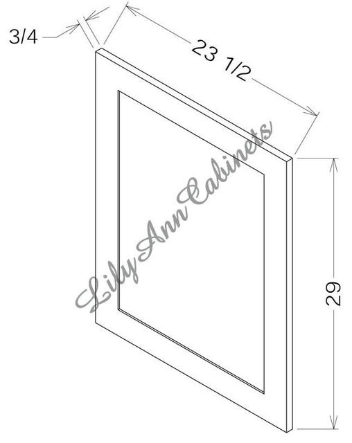 RTA Hickory Walnut Panels Fillers Trim BDD24 Base Decorative Door - Modern - Kitchen Drawer ...