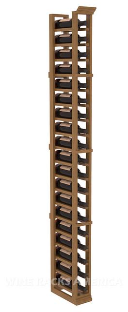 1 Column Standard Cellar Rack in Mahogany with Oak Stain + Satin Finish traditional-wine-racks