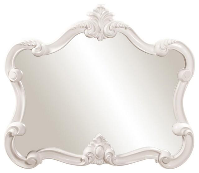 Veruca Wall Mirror - White 32W x 28H in. modern-mirrors