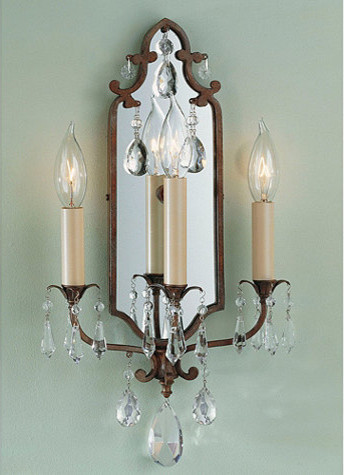 Verdi 3-Light Mirrored Sconce traditional-wall-lighting
