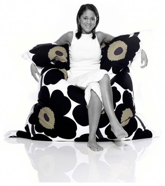 Fatboy Original Marimekko Lounge Bag - in Unikko Black modern chairs