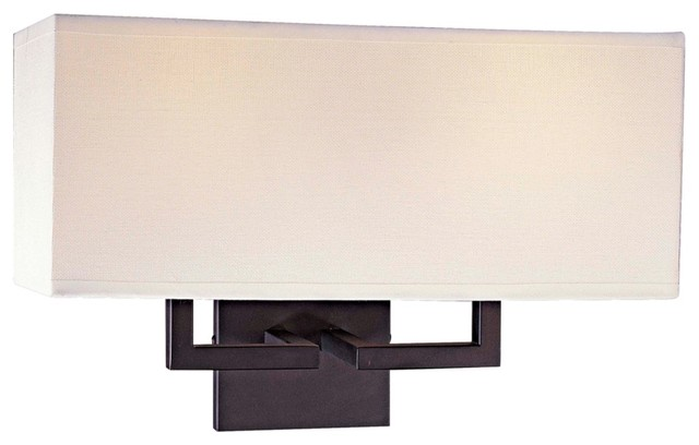 How High Should Wall Sconces Be : George Kovacs Rectangle Bronze 11