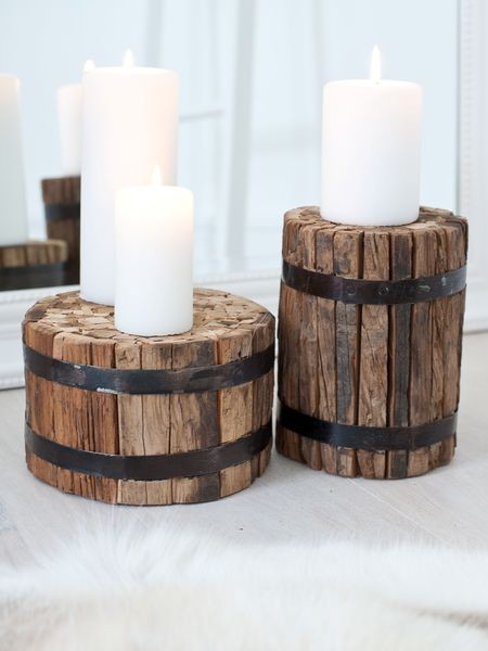 Wooden Candle Blocks modern candles and candle holders