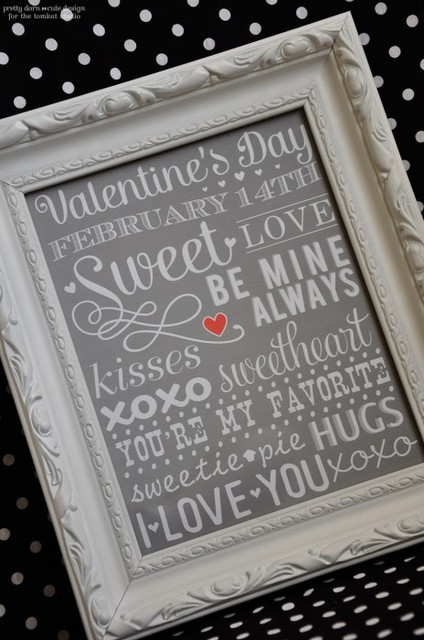 Valentine's Day Subway Art contemporary-holiday-decorations