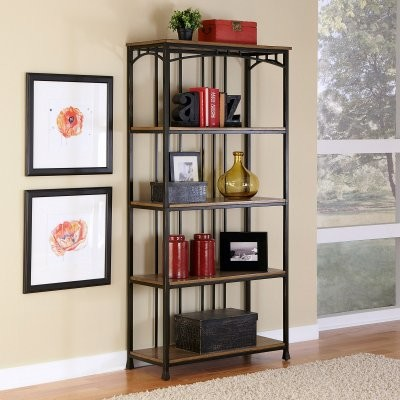 Home Styles Modern Craftsman 5-Tier Multi-Function Shelves - Oak / Brown modern-storage-units-and-cabinets