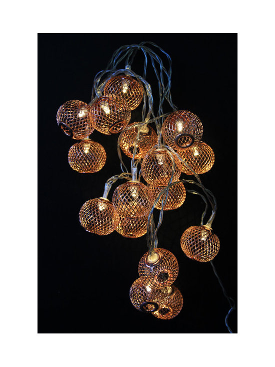 Decorative Light Chain - Copper Lantern - Battery Operated -