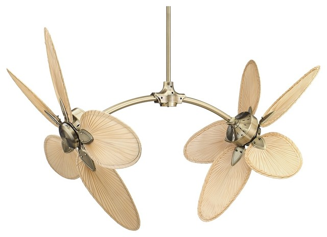 Country - Cottage The Caruso Antique Brass Fan By Fanimation traditional-ceiling-fans