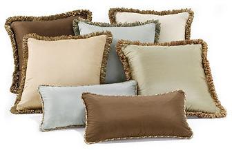 Traditional Sofa Throw Pillows : Silk Decorative Throw Pillows - Traditional - Decorative Pillows - by FRONTGATE