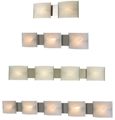 Pannelli Bath Bar with Glass Options - modern - bathroom lighting