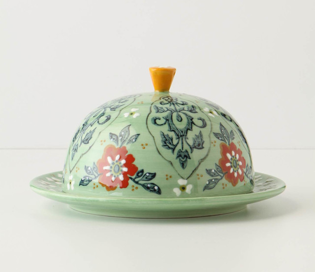 Covered Butter Dish eclectic serveware