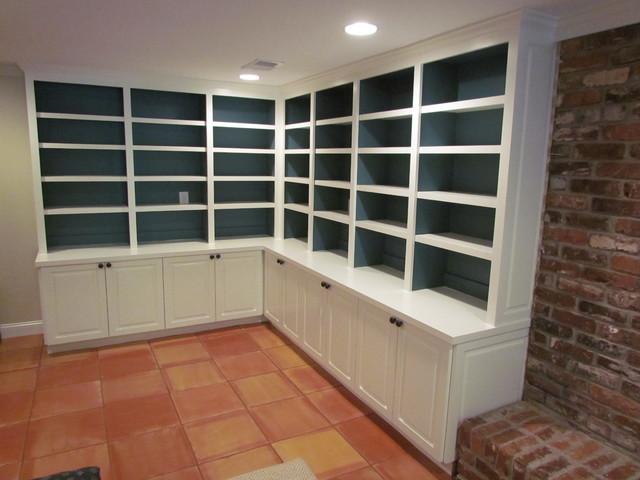 Atlanta closet family room built in transitional for Basement closet ideas