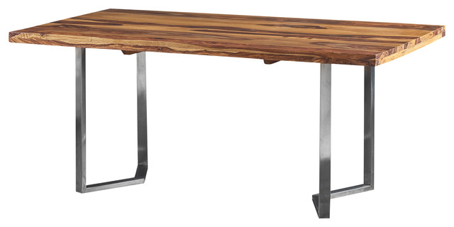 Lisa Dining Table Made of Rosewood With Stainless Steel  : modern dining tables from www.houzz.com size 640 x 320 jpeg 28kB