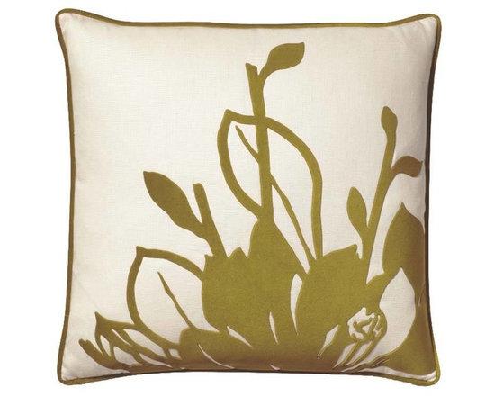 Falling Leaves Green Tea Pillow -