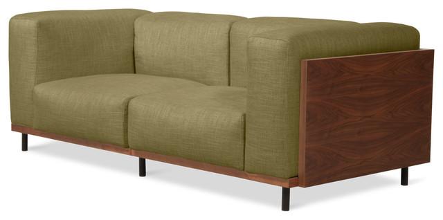 Fenway Green 2-Seat Sofa modern-sofas