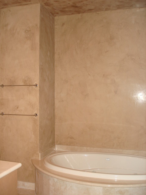 venetian plasters and other lime products modern-bathroom