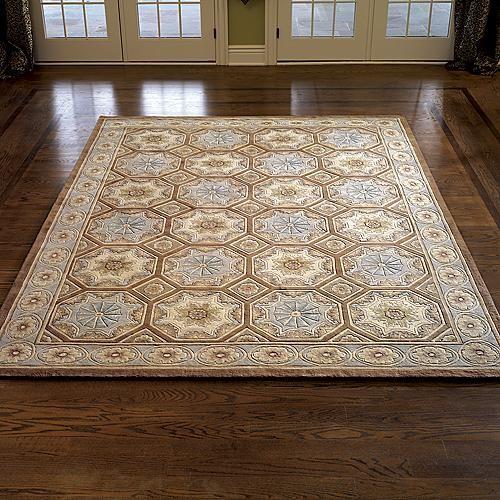 Naples Waltz Wool Area Rug - 5' x 8' traditional-rugs