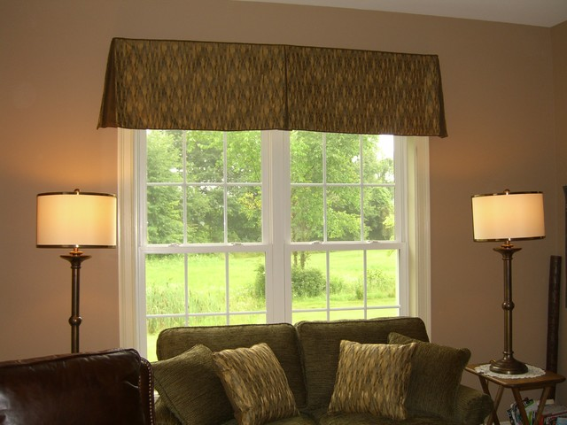 swags and valances traditional living room other