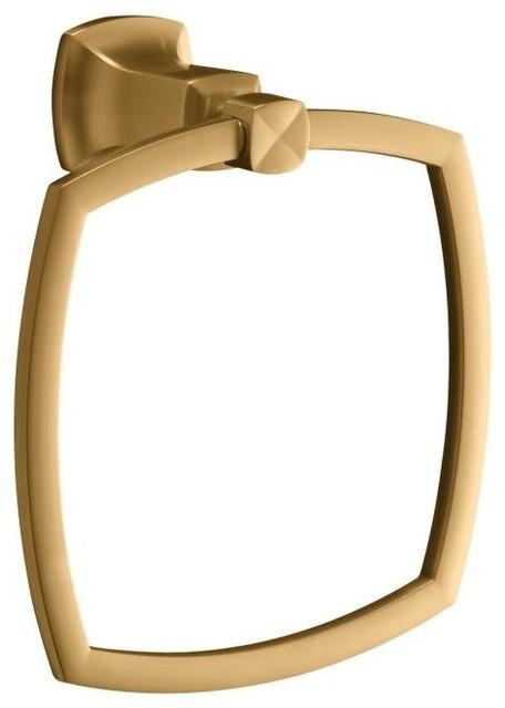 KOHLER K-16254-BV Margaux Towel Ring in Brushed Bronze traditional-towel-rings