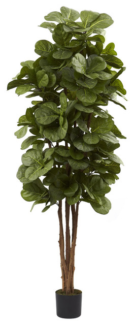 Nearly Natural 6' Fiddle Leaf Fig Tree traditional-artificial-flowers-plants-and-trees