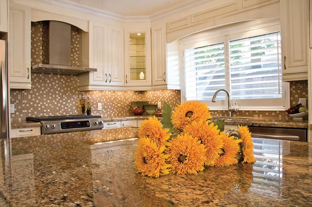 Allegra Glazed Latte & Richmond Blacked Clove Maple traditional-kitchen